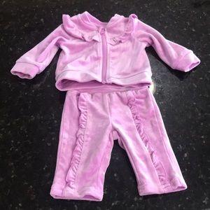 Other - Baby girl purple velvet tracksuit 0-3 months